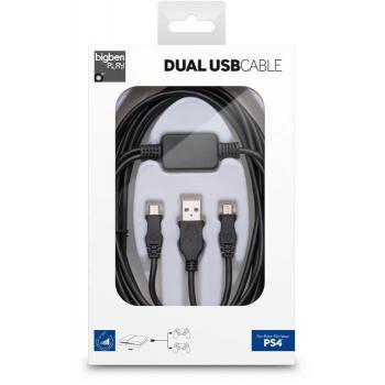 Bigben PS4 Dual Flat USB...